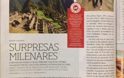 Minha viagem à Machu Picchu na revista de bordo