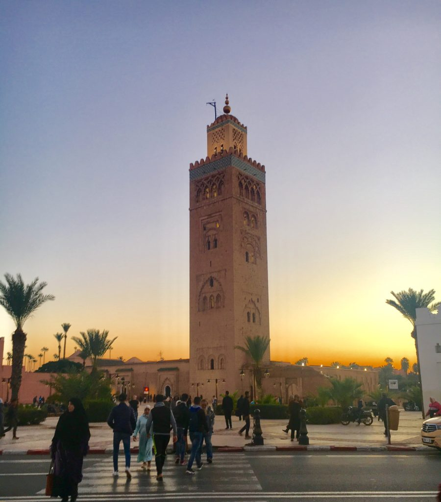 por-do-sol em Marrakech
