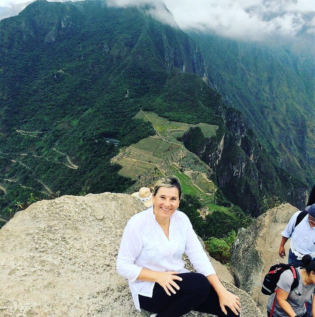 Em Machu Picchu após a subida da Montanha Hayna Picchu