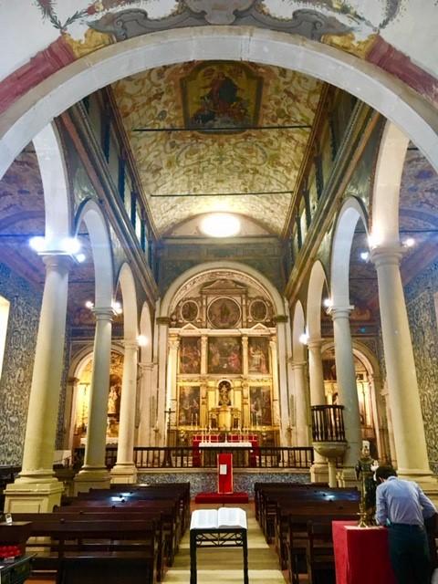 Altar da Igreja de Santa Maria, em Óbidos