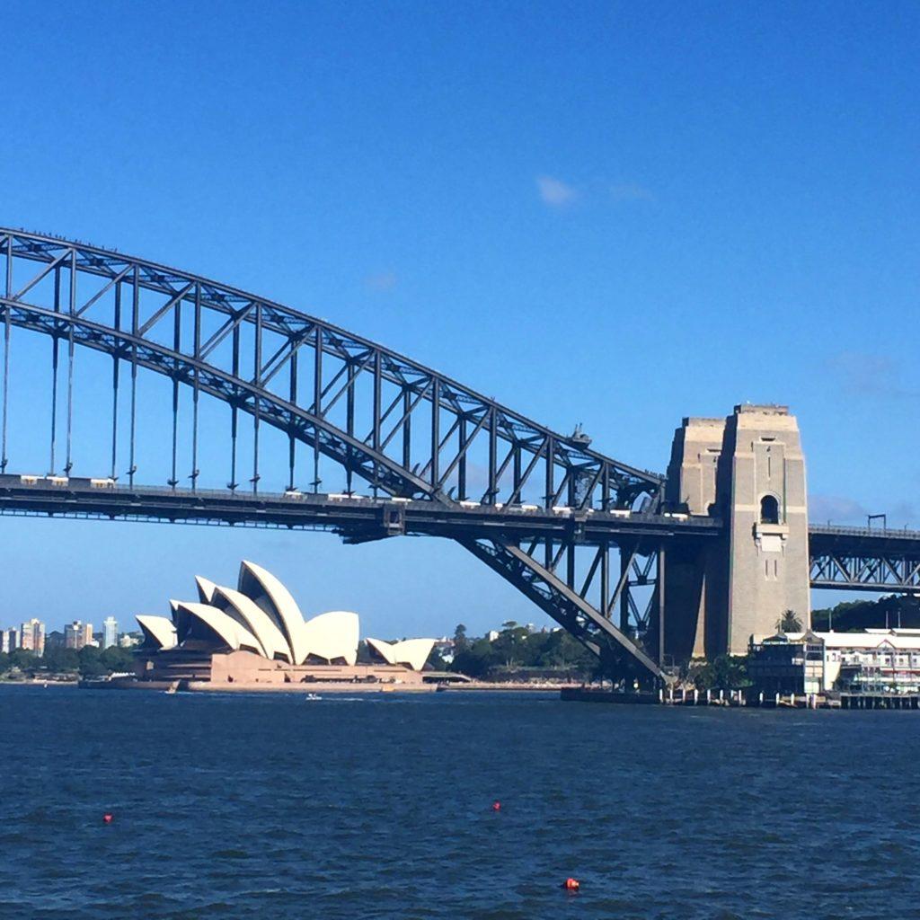 Sydney Harbour Bridge e Opera Hose, em Sydney, Austrália