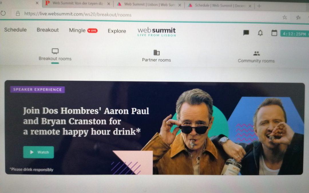 Web Summit 2020 onde inventores, empresários, atores e políticos falam a mesma língua